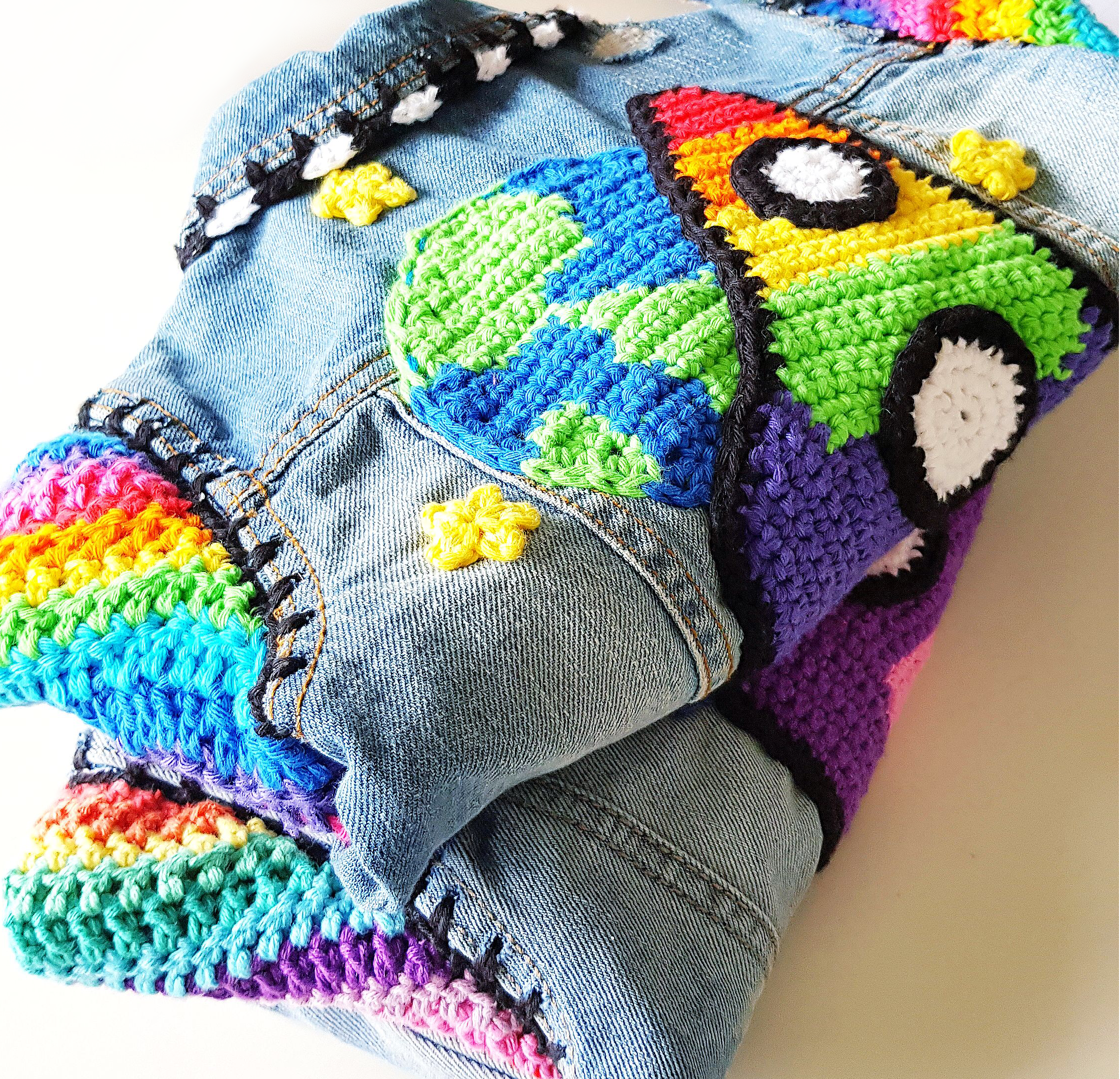 Upcycled Colourful Crochet Fun